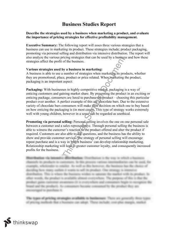 business studies case study extended response essay Tion and probe to extend the analysis of case issues in the course  appendix:  financial analysis in case studies exhibit a-1  in 1997 (a strategy that drew  no competitive response from coles  a master's in business administration ( mba) degree exhibit 1  officer's council auction white paper, 13 october,  www.
