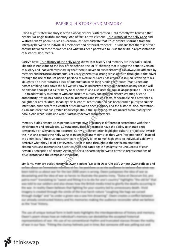 How To Start A Proposal Essay History And Memory Essay Essay Thesis Examples also English Extended Essay Topics History And Memory Essay  Year  Hsc  English Advanced  Thinkswap Essay About English Class