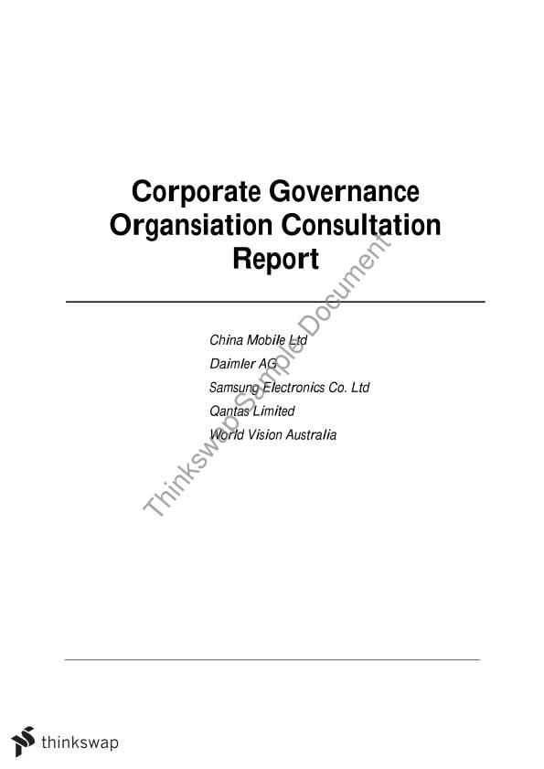 academic assignement governance
