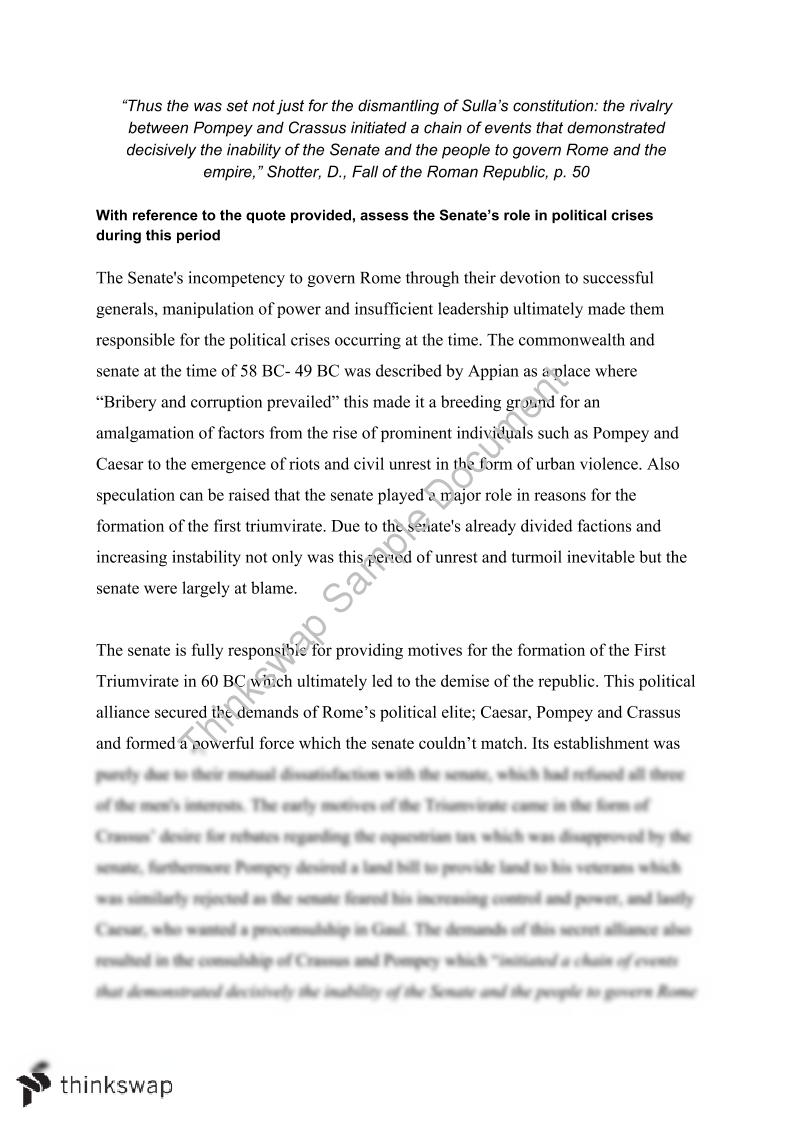 Essay Paper Checker Fall Of The Roman Republic Assessment Essay  Science Argumentative Essay Topics also I Need Help To Do My Assignment Fall Of The Roman Republic Assessment Essay  Assess The Senates  Argumentative Essay Topics On Health