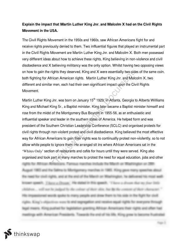 Martin luther king civil rights movement essay