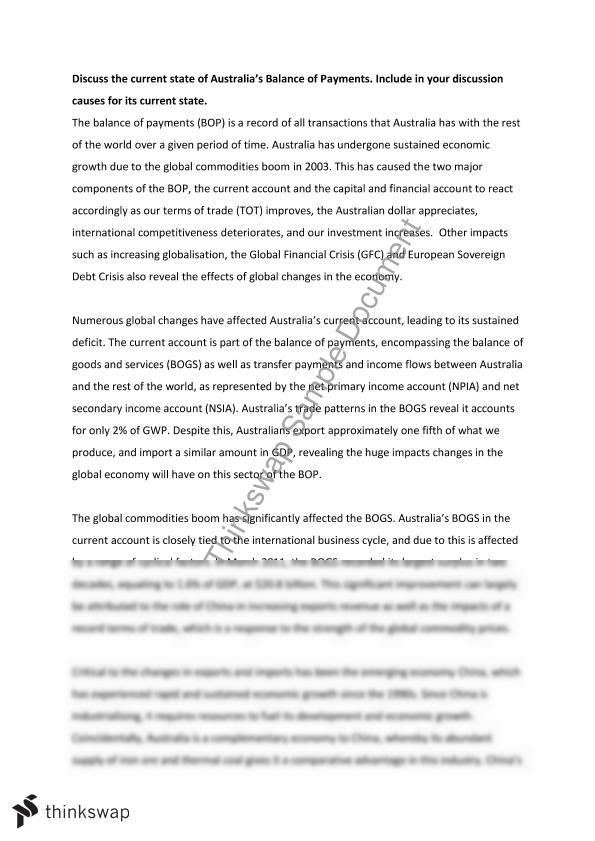 essay balance of payments essay balance of payments