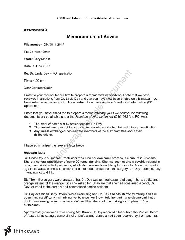 Memo to a barrister regarding a case 7303law introduction to memo to a barrister regarding a case spiritdancerdesigns Gallery