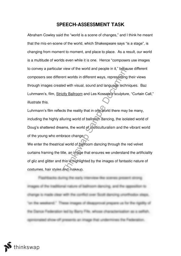 hsc english strictly ballroom essay year hsc english  hsc english strictly ballroom essay
