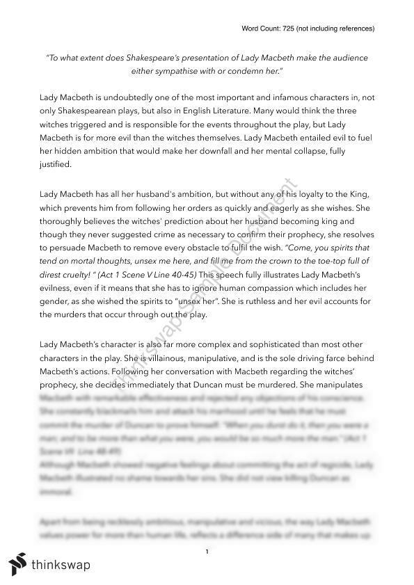 macbeth comparison essay
