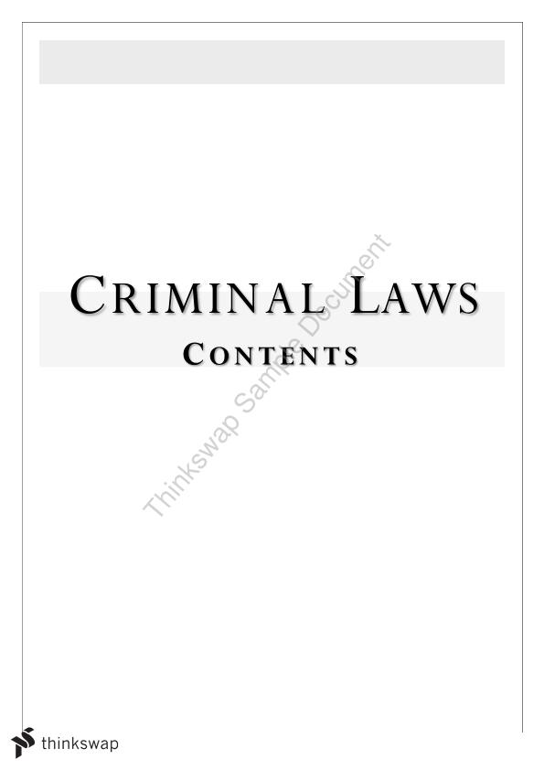 Criminal Law and Justice 2 Exam Problem Solving notes