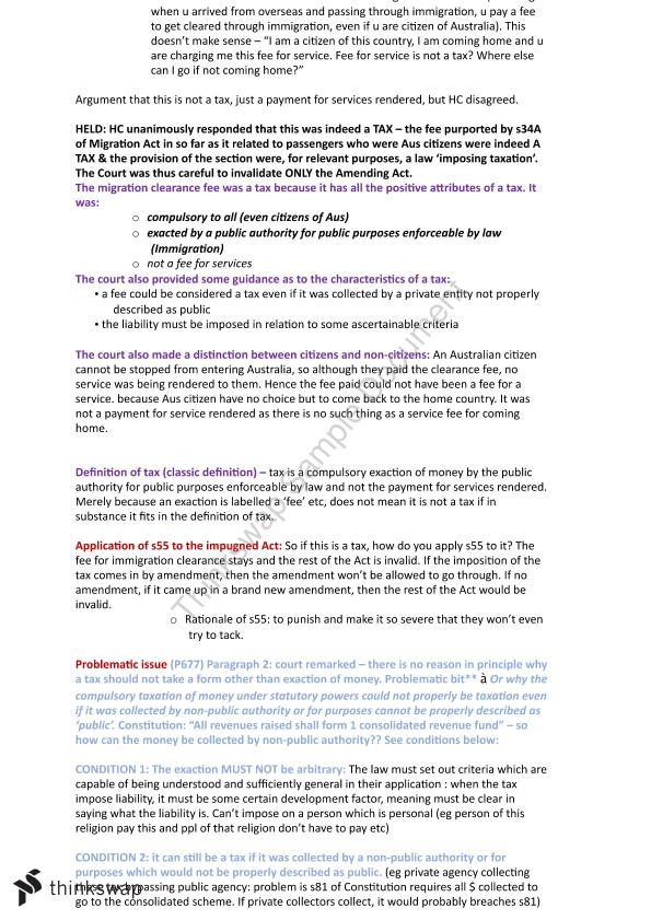 Full Exam Notes for Federal Constitutional Law