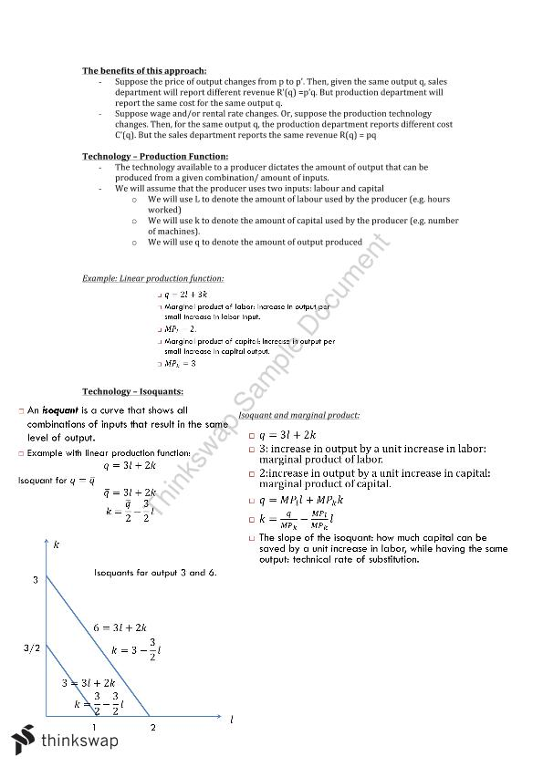Intermediate Microeconomic Notes