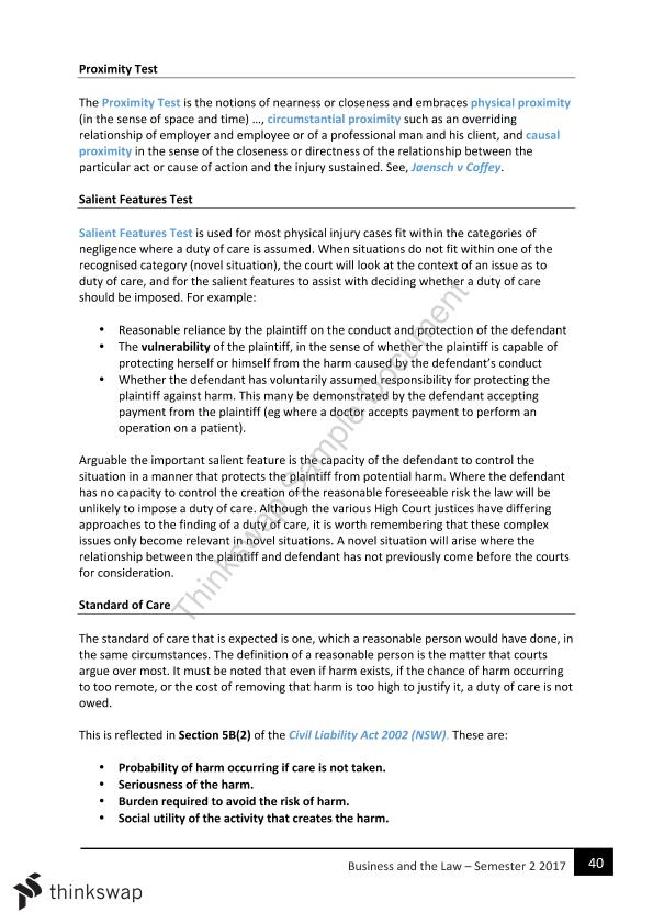 CLAW1001: Foundations of Business Law Complete Notes - Page 39
