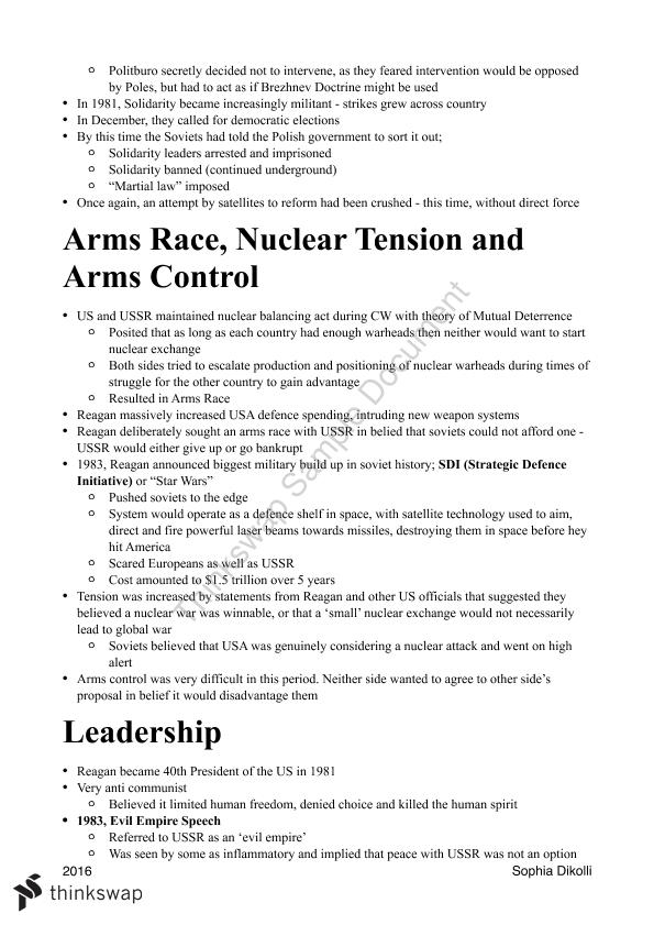 Modern History - The Changing European World ATAR Notes - Page 15