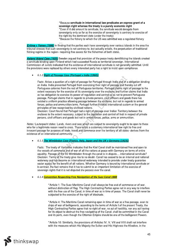 Public International Law: Final Exam Study Notes