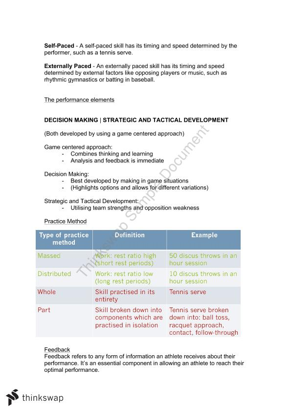 Full PDHPE Syllabus Notes (With Options 3 and 4)