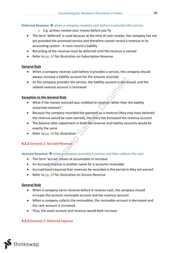 Notes for Accounting A 22107