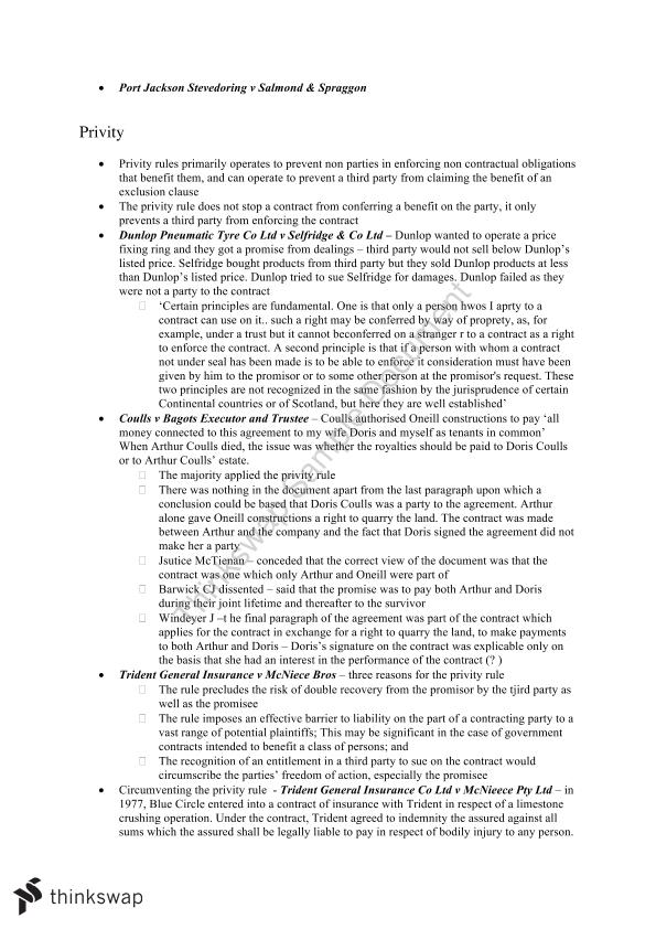 LAWS1015 Final Exam Notes