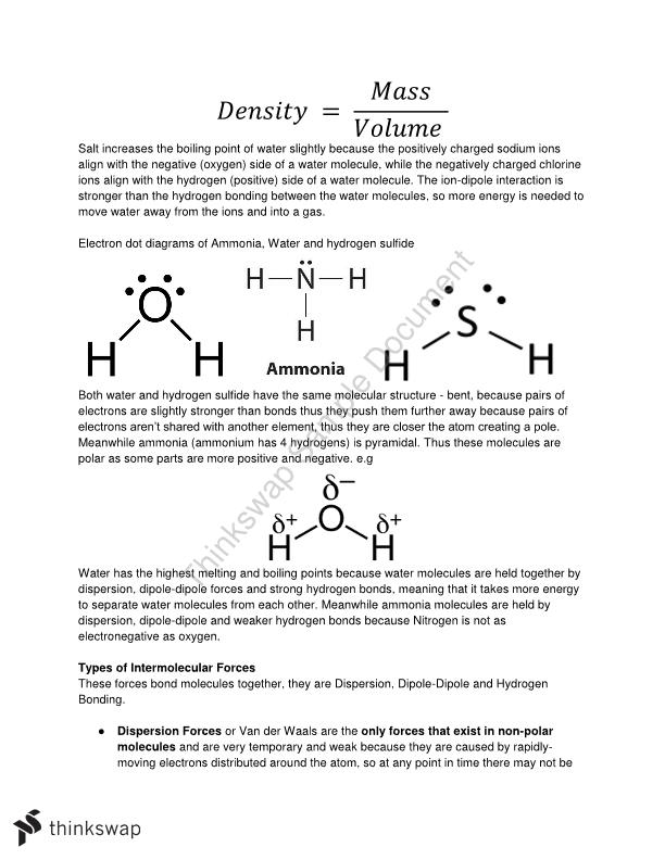 Full HSC Preliminary Course Chemistry Notes
