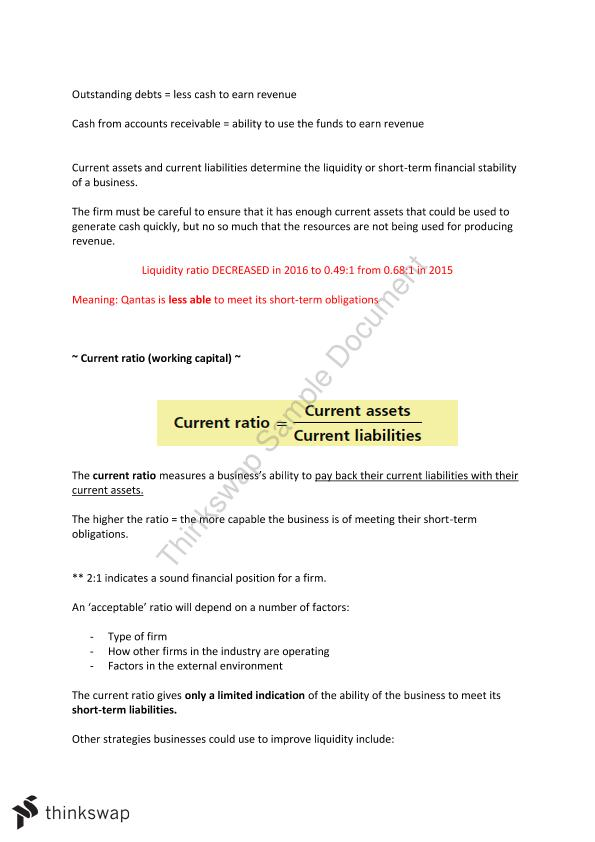 Finance Notes + Qantas Case Study