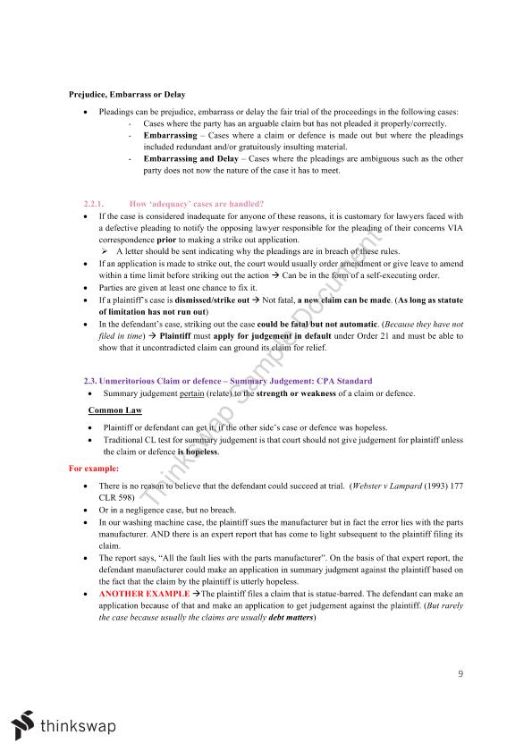 Civil Procedure Full Notes
