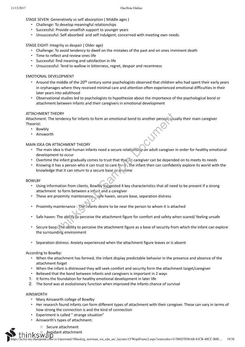 Syllabus Dot Point Notes for Year 11 ATAR Psychology Subject