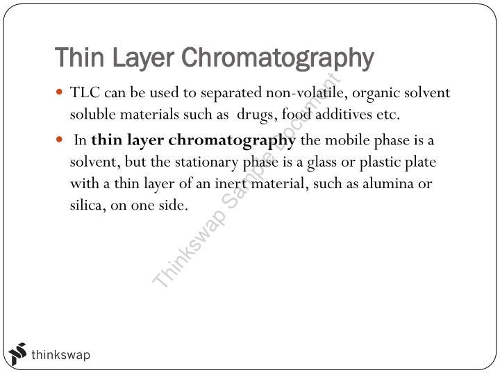 Stage 2 Chemistry Chromatography   Year 12 SACE - Chemistry