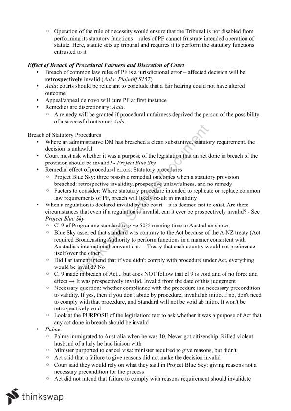 Admin Law Complete Study Notes