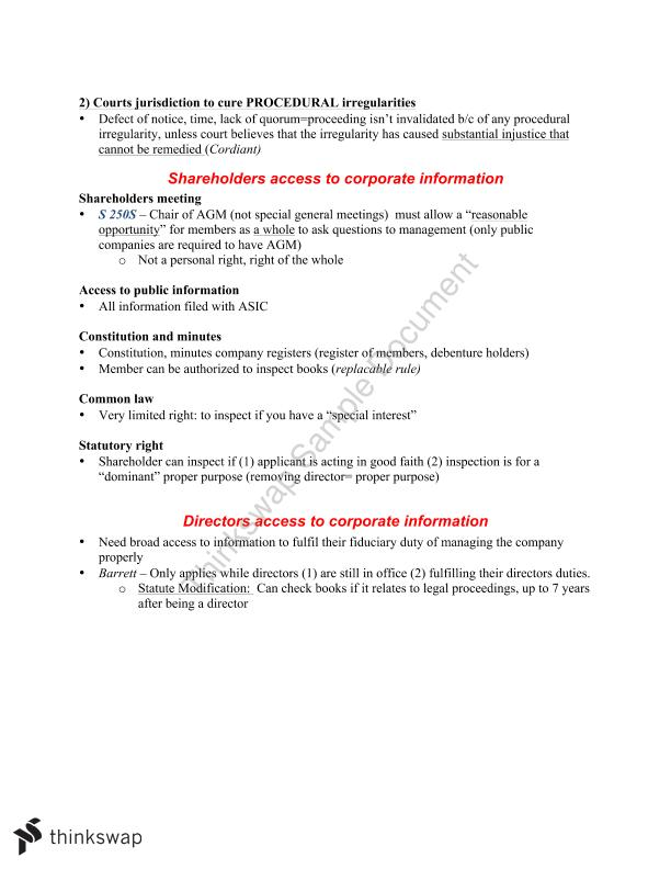 LAWS2014 Corporations Law Complete Finals Notes - Page 14