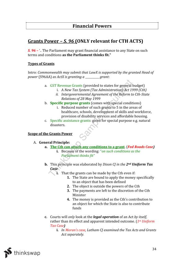 Full LAW2111 Notes Constitutional Law