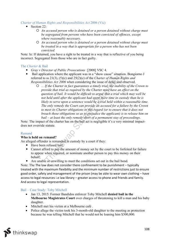 Complete Criminal Procedure Lecture Notes | MLL218
