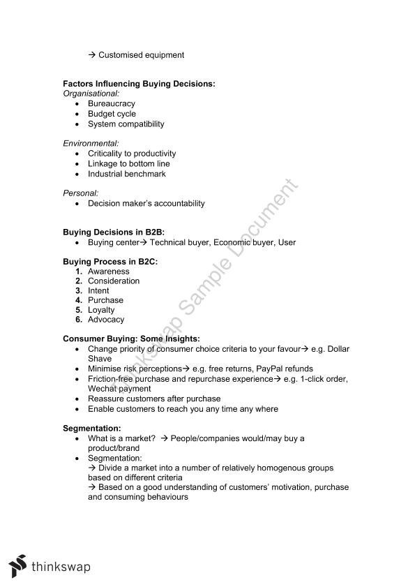 Marketing Planning and Strategy Full Course Notes