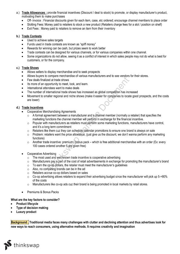 Integrated Marketing Communication Final Exam Complete Note