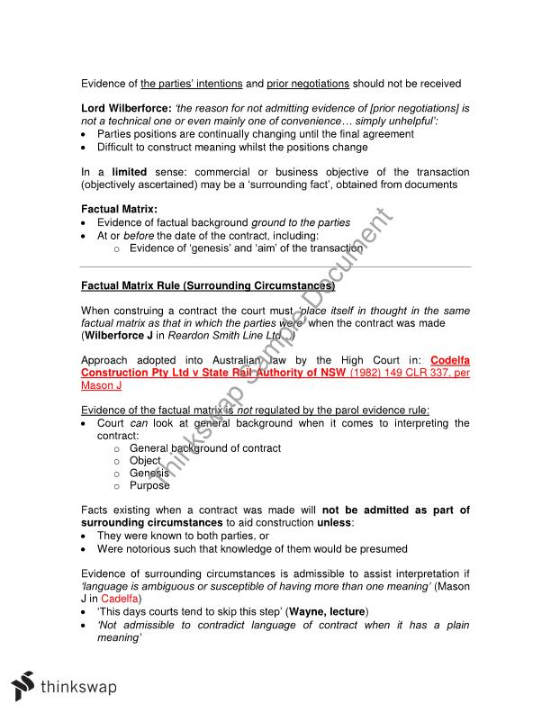 Contract notes HD student quality LAWS1015 Contracts – Student Agreement Contract