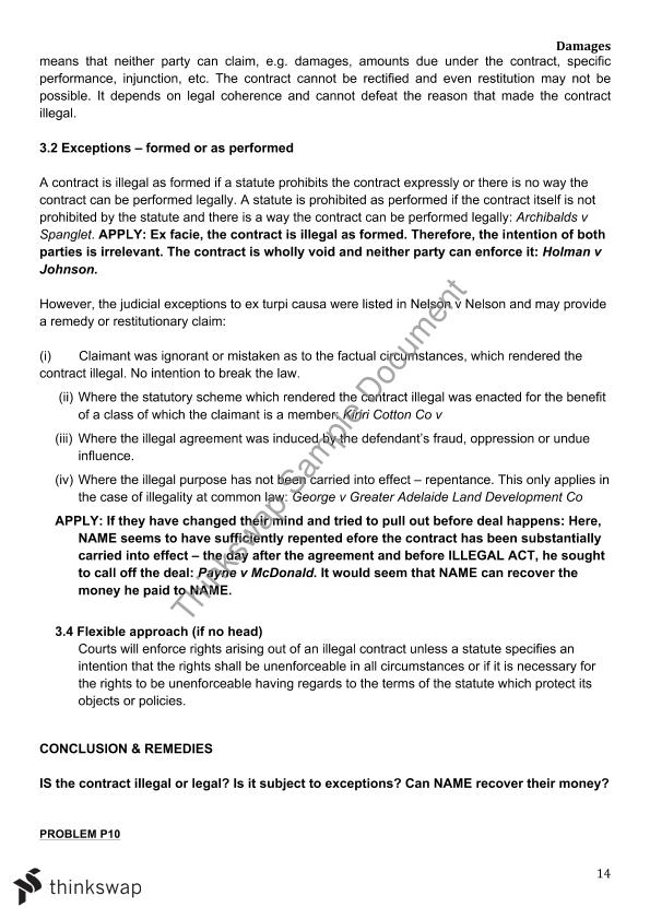 Contracts B Templates Complete Answer Guides Lwb137 Contracts