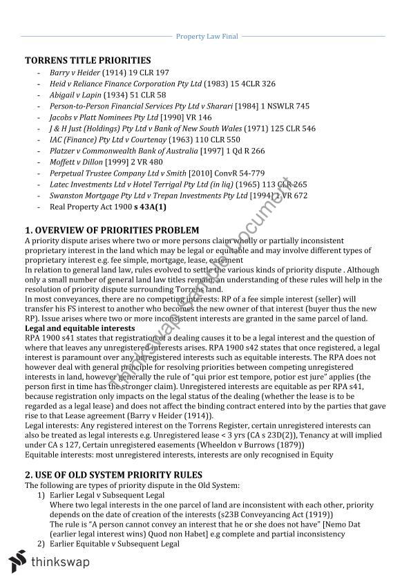 property law notes Laws203 property law notes created by brilliant new zealand grads we also stock other law notes, including administrative law, civil rights, and public international law (revision version.