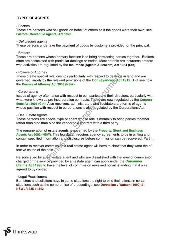 Commercial Law Notes 200014 Commercial Law Thinkswap