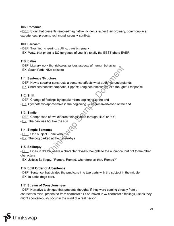 Advanced Placement English Language Golden Review Year 12 Hsc