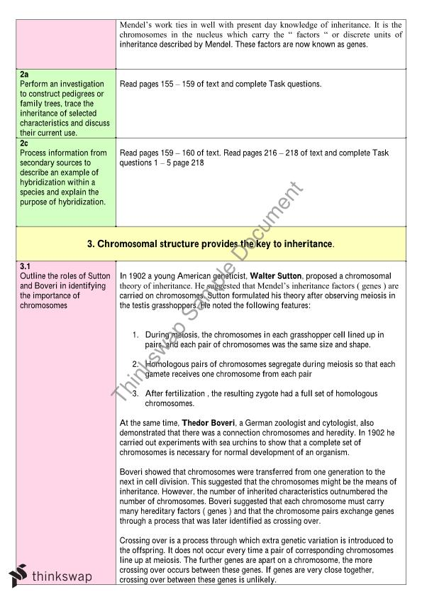 Blueprint of life notes year 12 hsc biology thinkswap blueprint of life notes malvernweather Images