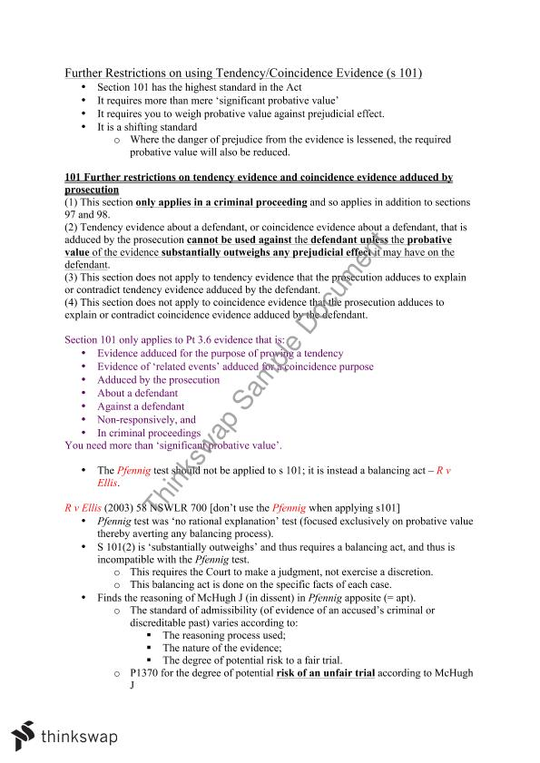 Criminal Procedure and Evidence Exam Notes