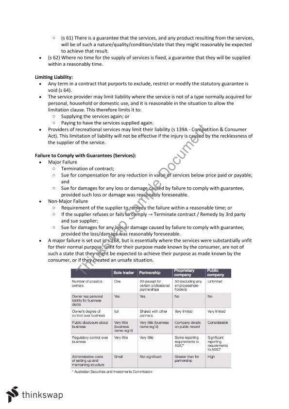 commercial law exam notes Monash, semester 1, 2015 mark received - hd topics include:- sales of goods-  international sale of goods- agency- partnership- insurance- guarantees-.