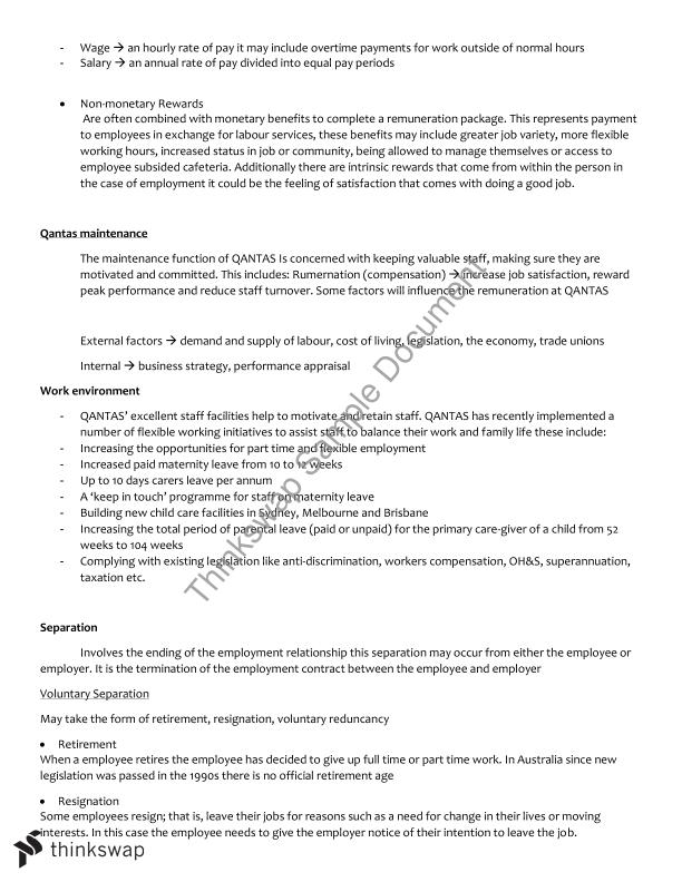 business report qantas human resources View notes - acct2060 assignment 2 from acct 2060 at sim university  qantas airways limited sustainability/corporate social responsibility report.