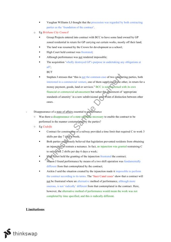 Extensive Contracts Topic Notes