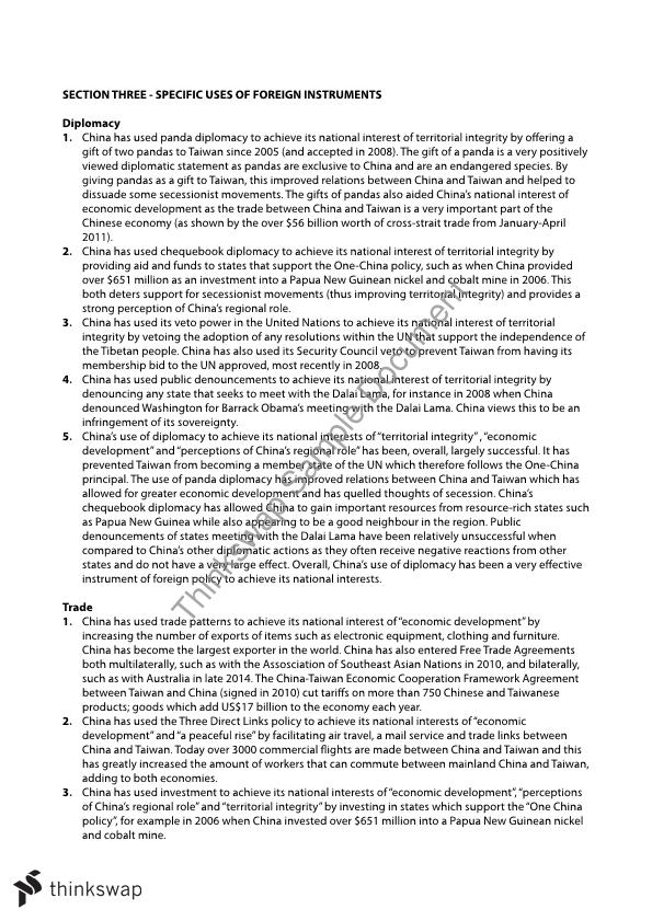 Global politics vce essay