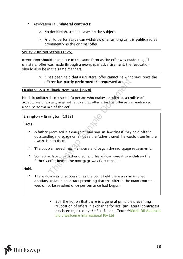 Contract Law - Agreement - Page 18