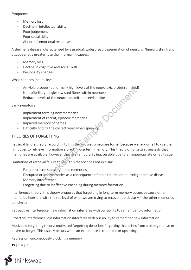 Psychology 3/4 Comprehensive Notes | Year 12 VCE