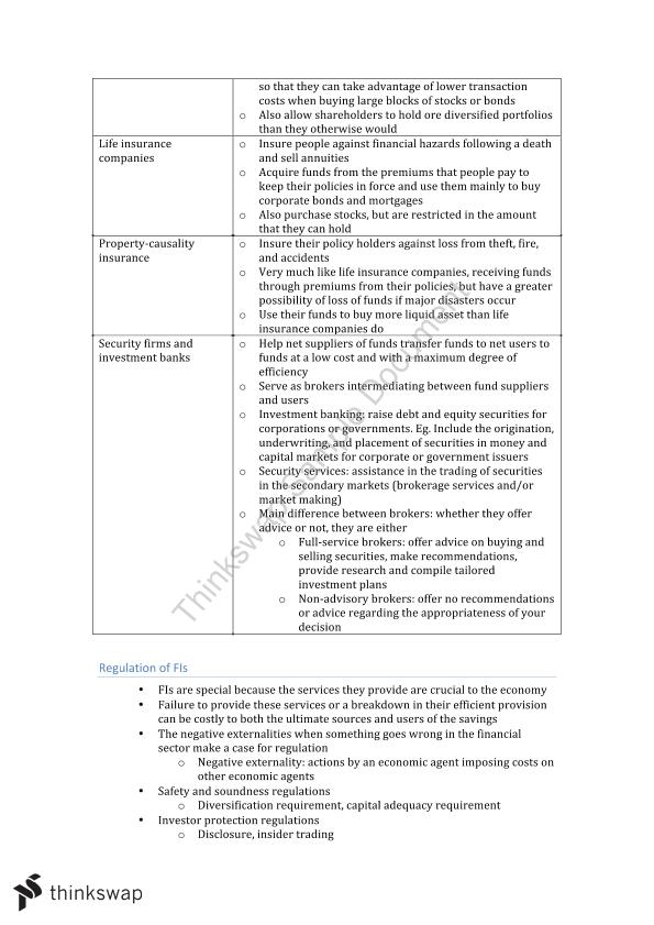 FINS3630_Bank Financial Management_Complete Notes