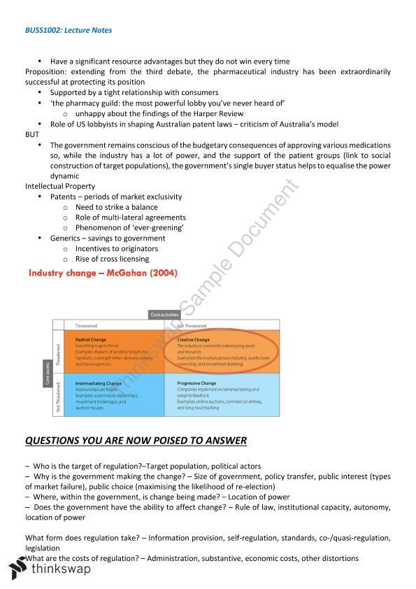 BUSS1002 Notes | BUSS1002 - The Business Environment | Thinkswap