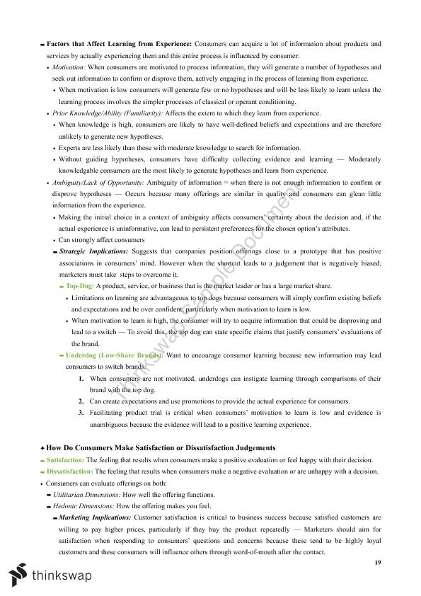 consumer behaviour notes View notes - consumer behavior (8th) chapter 3 notes pdf from marketing bus2-134 at san jose state university chapter 3 : consumer learning perception 3-1 define learning & perception learning.