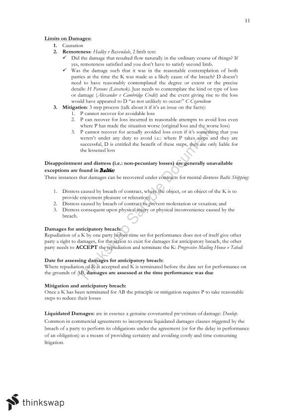 LAWS1075 Contracts Law Exam Notes