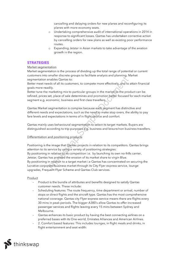 Business Studies Band   Notes   All Core Modules   QANTAS
