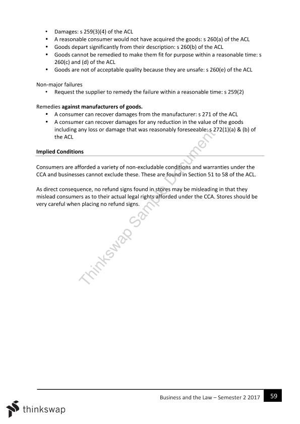 CLAW1001: Foundations of Business Law Complete Notes - Page 58
