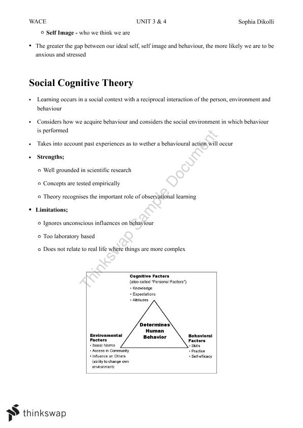 Year 12 Psychology Syllabus Notes Units 3 & 4 - Page 30