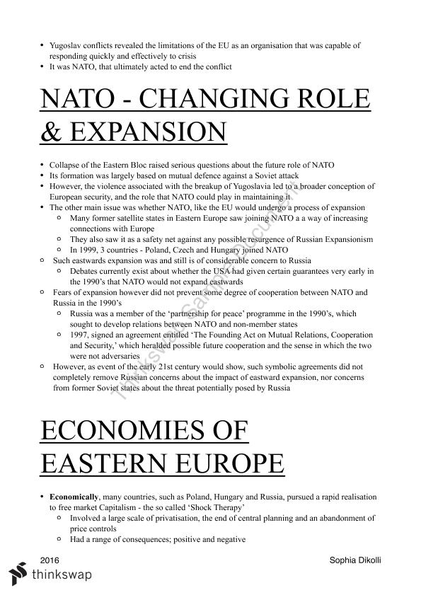 Modern History - The Changing European World ATAR Notes - Page 23